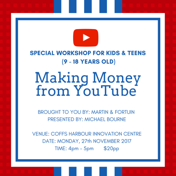 Making Money from YouTube workshop